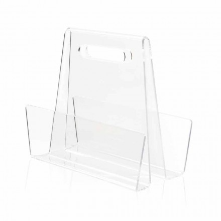 Modern Transparent Plexiglass Magazine Rack Made in Italy - Immoral