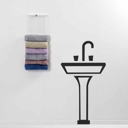Wall mounted towel rack with a modern design Max, made in Italy