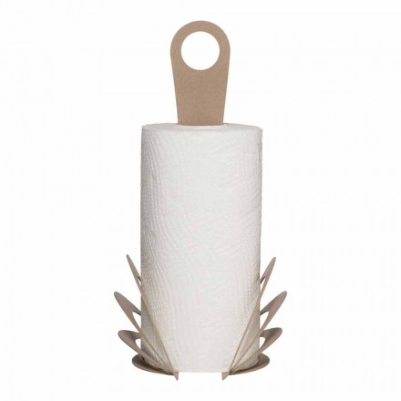 Handmade Kitchen Towel Roll Holder in Iron, Made in Italy - Futti