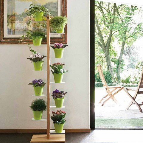 Zia Flora modern vertical column flowerpot holder made in Italy