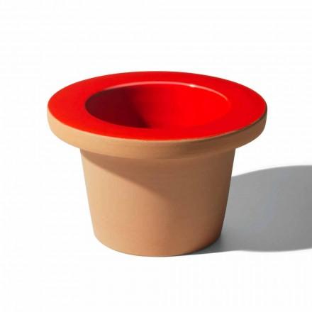 Vase Holder in Terracotta and Glazed Ceramic Made in Italy - Phoebe