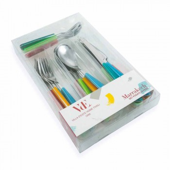 Design Cutlery 24 Pieces in Steel and Plastic Full Service - Morocco