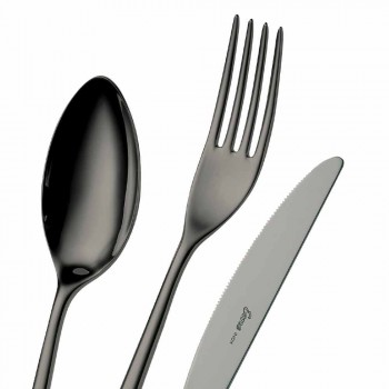 24 Pieces Luxury Polished or Sandblasted Colored Stainless Steel Cutlery - Lapis