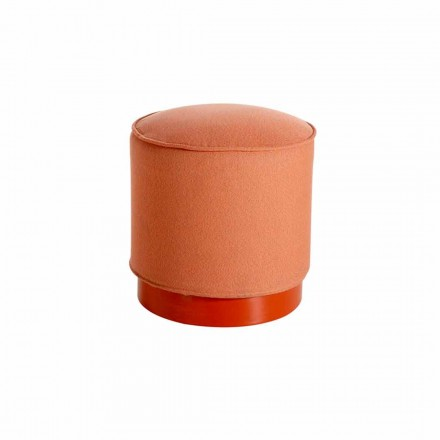 Outdoor puof in polyethylene and leather or fabric – Mara Slide