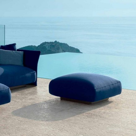 Cliff modern outdoor pouf in fabric by Talenti, designed by Palomba