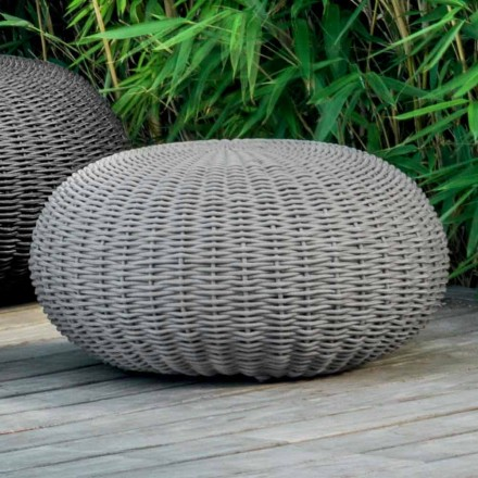 Medium pouf and round Jackie by Talenti for outdoor in synthetic cord