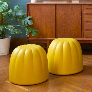 Soft colored pouf Slide Gelee in polyurethane made in Italy