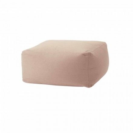 Soft Ottoman Rectangular Pouf for Indoor and Outdoor in Fabric - Naemi