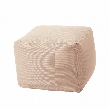 Soft Square Indoor and Outdoor Pouf in Fabric Various Colors - Naemi