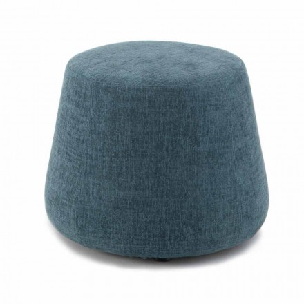 Round Ottoman Pouf for Living Room in Colored Chenille 3 Dimensions - Evelyne