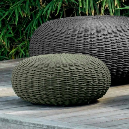 Small pouf and round Jackie by Talenti with modern desing for garden