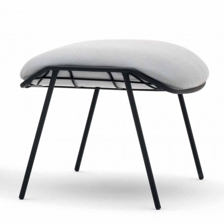 Summer outdoor pouf / footstool in fabric and steel by Varaschin