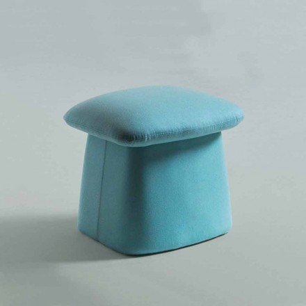 Pouf Footrest for Living Room of Modern Colored Design Made in Italy - Bule