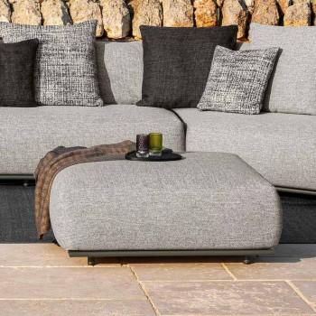 Design Garden Pouf White or Gray Fabric - Scacco by Talenti