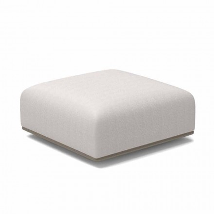 Design Garden Pouf White or Gray Fabric - Scacco by Talenti