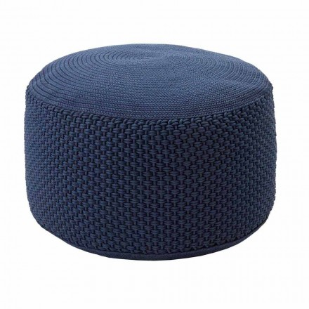 Round Garden Pouf in Polypropylene in 3 Colors Made in Italy - Francisco