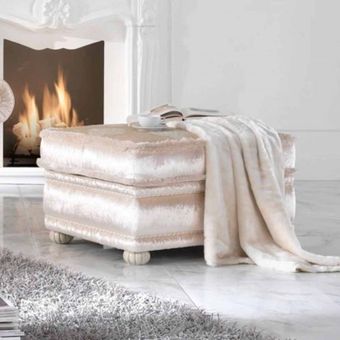 Ottoman baroque coated Romantic fabric, made in Italy