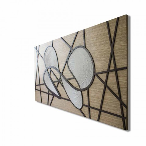 120x60 Framework in Oak and White Body Worked by Hand and Bas Reliefs - Sambuca