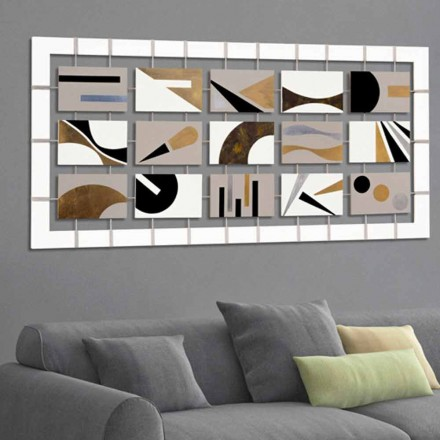 Abstract painting Craig, with 15 panels, modern design