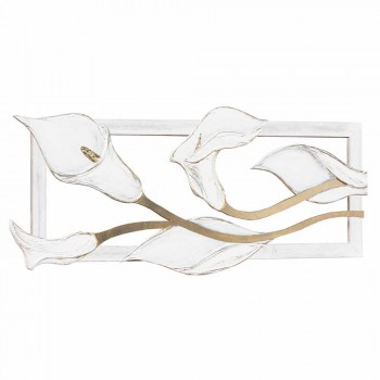 Picture with hand-decorated calla lilies with Tyler gold leaf details