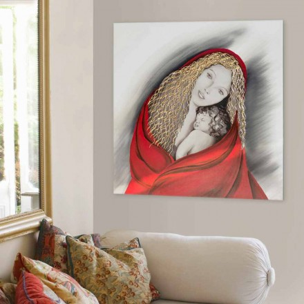 Hand-decorated Painting Madonna by Viadurini Decor, made in italy