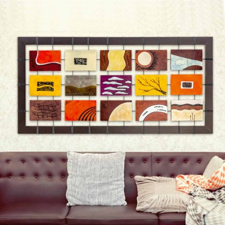 Modern painting Wise with hanging embossed panels
