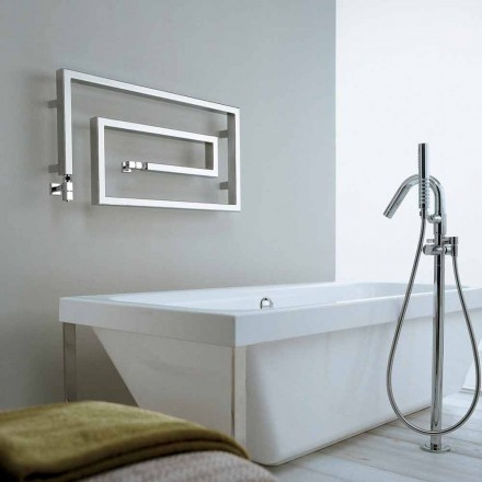 Modern chrome hot water radiatior Snake by Scirocco H, made in Italy