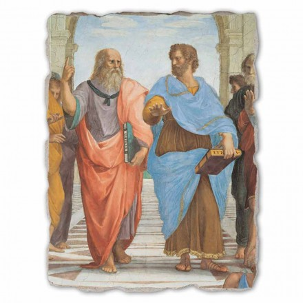 The School of Athens by Raphael, hand-painted fresco