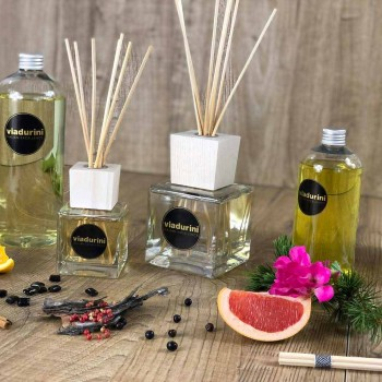 Refill Bamboo Lime Ambient Diffuser Sticks 500 ml or 1 lt - Ariadicapri