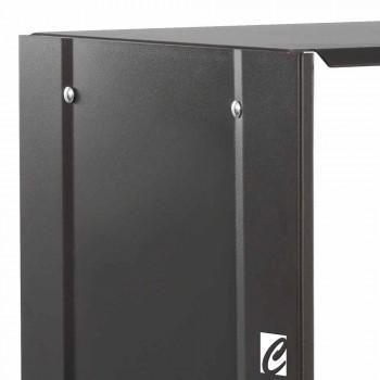 Black Rectangle 75 Design log basket for indoor steel fireplace