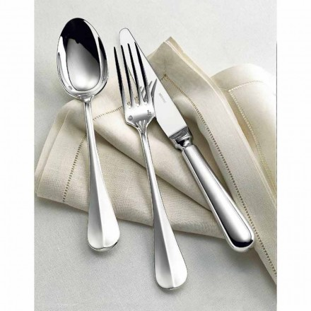 Rosenthal Sambonet Baguette flatware set 75 pcs, nickel silver handle