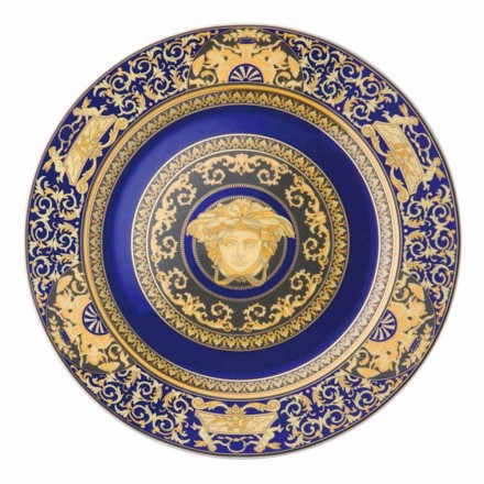 Rosenthal Versace Medusa Blue porcelain decorative wall plate