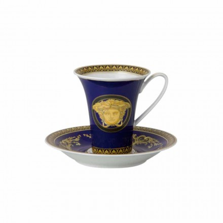 Rosenthal Versace Medusa Blue modern porcelain tall coffee cup
