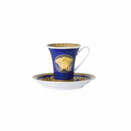Rosenthal Versace Medusa Blue porcelain coffee cup, luxury design