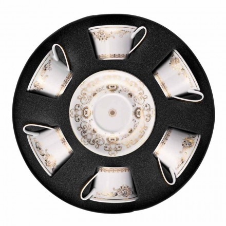 Rosenthal Versace Medusa Gala tea cup with saucer, set of 6 pcs.