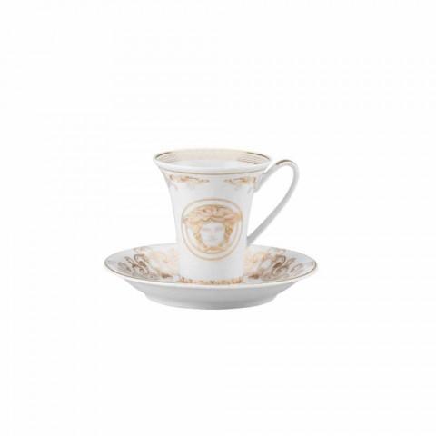 Rosenthal Versace Medusa Gala Espresso cup with saucer, set of 6 pcs.