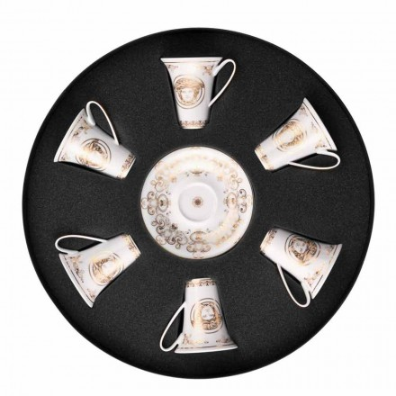 Rosenthal Versace Medusa Gala Espresso cup with saucer, set of 6 pcs.