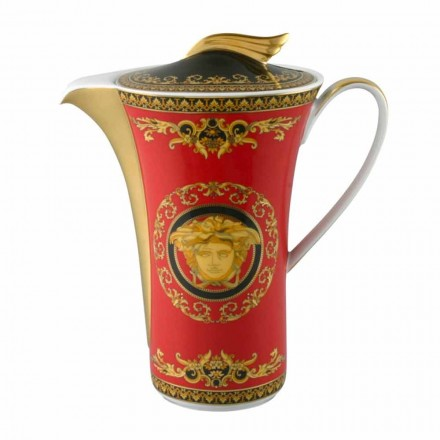 Rosenthal Versace Medusa Rosso luxury porcelain 6 cup coffee-pot