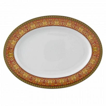 Rosenthal Versace Medusa Rosso oval plate 40 cm, luxury design