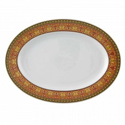 Rosenthal Versace Medusa Rosso porcelain oval plate, luxury design