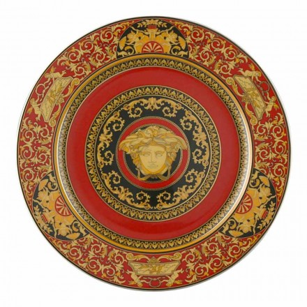 Rosenthal Versace Medusa Rosso porcelain placeholder plate, 30 cm