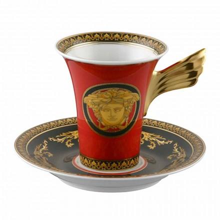 Rosenthal Versace Medusa Rosso porcelain tall coffee mug