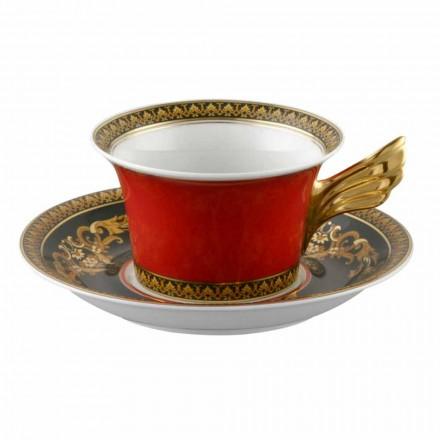 Rosenthal Versace Medusa Rosso modern design porcelain tea mug