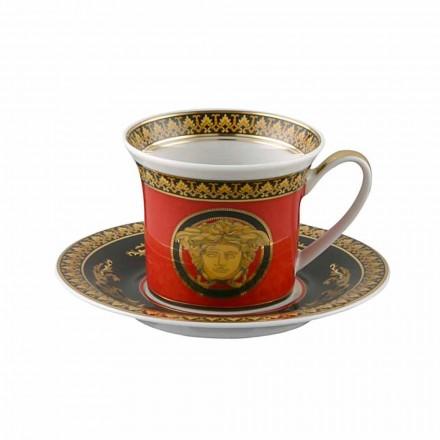 Rosenthal Versace Medusa Rosso porcelain Espresso cup, luxury design