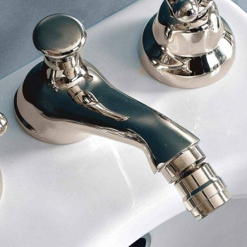3-Hole Bidet Taps with Hand Drain Classic Style in Brass - Ercolina