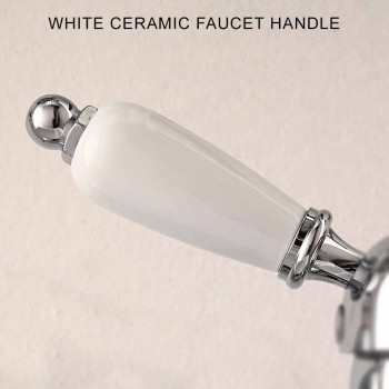 Classic Single Hole Bidet Tap with Handcrafted Brass Levers - Noriana