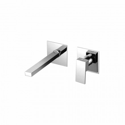 Wall Mounted Mixer Tap for Modern Bathroom Washbasin Made in Italy - Panela