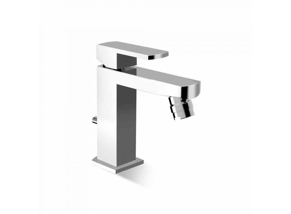Brass Bidet Mixer Tap with Drain Made in Italy - Sika