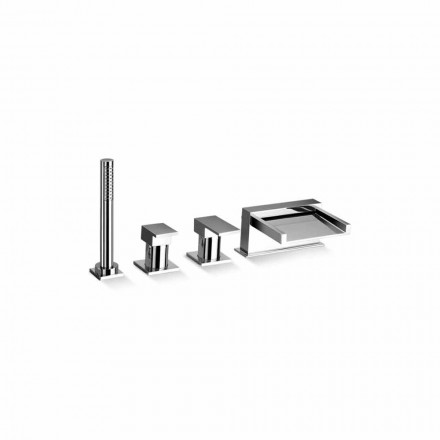 Made in Italy Design 4-Hole Bathtub Mixer Tap - Bibo