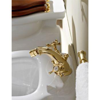Brass Single Hole Faucet for Bidet Classic Butterfly Handles - Fioretta
